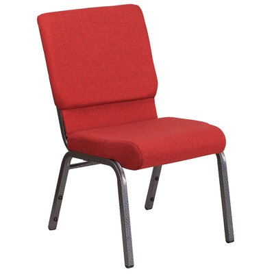 MacArthur Contemporary Guest Chair Seat Finish: Red, Finish: Silver