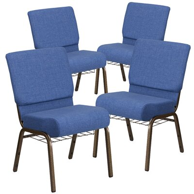 MacArthur Modern Guest chair with Fabric Seat Seat Finish: Blue