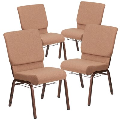 MacArthur Guest chair with Fabric Seat Seat Finish: Brown