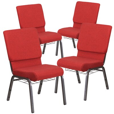 MacArthur Modern Upholstered Guest chair with Fabric Seat Seat Finish: Red