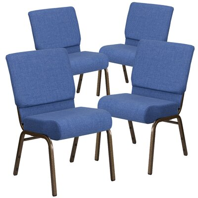 MacArthur Upholstered Guest chair with Fabric Seat Seat Finish: Blue