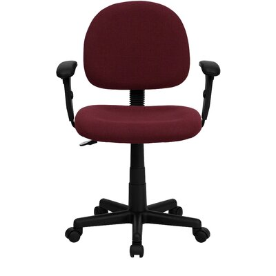 Personalized Desk Chair Upholstery: Burgundy, Arms: With Arms