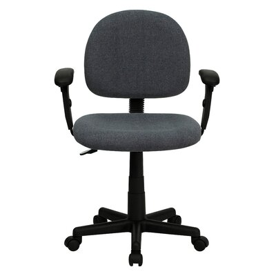 Personalized Desk Chair Upholstery: Gray, Arms: With Arms