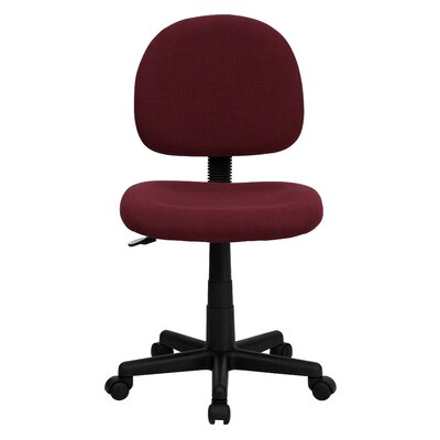 Personalized Desk Chair Upholstery: Burgundy, Arms: No Arms