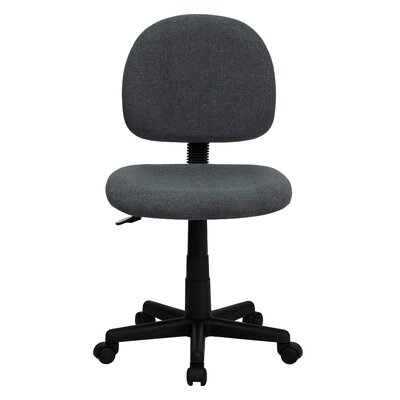 Personalized Desk Chair Upholstery: Gray, Arms: No Arms