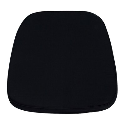 Chiavari Chair Cushion for Wood and Resin Chiavari Chairs (Set of 5) Color: Black