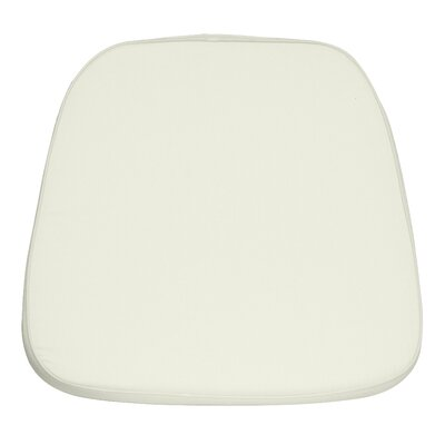Chiavari Chair Cushion for Wood and Resin Chiavari Chairs (Set of 5) Color: White