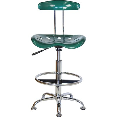 Personalized High-Back Drafting Chair Upholstery: Green
