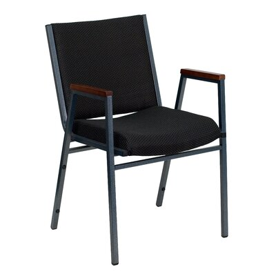 Dillman Heavy Duty 3'' Thickly Padded Stack Chair Quantity: Set of 10, Seat Finish: Black Vinyl, Arms: No