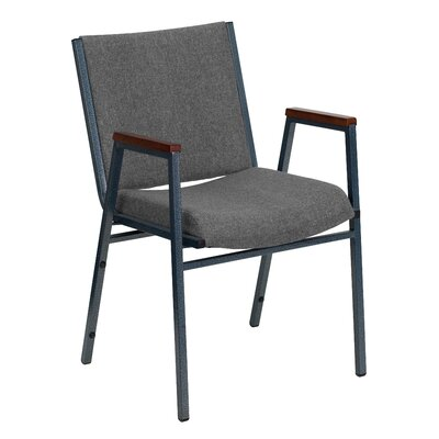 Dillman Heavy Duty 3'' Thickly Padded Stack Chair Arms: Yes, Quantity: Set of 16, Seat Finish: Gray Fabric