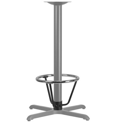 """Bashaw Bar Height Table Base Foot Ring with Column Ring Size: 16"""" H x 12"""" W x 12"""" D"""