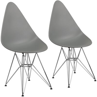 Resto Guest Chair Seat Color: Gray