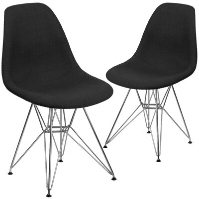 Ressler Upholstered Side Chair Upholstery: Black