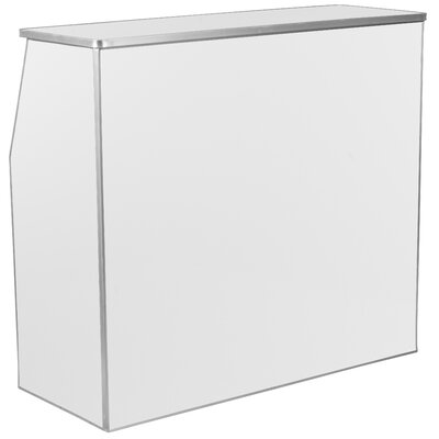 Bukowski Foldable Home Bar Color: White