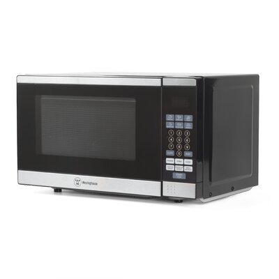 "18"" 0.7 cu.ft. Countertop Microwave Color: Stainless Steel"