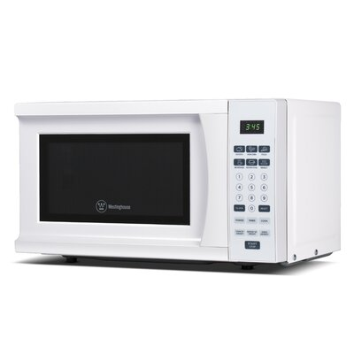 "18"" 0.7 cu.ft. Countertop Microwave Color: White"