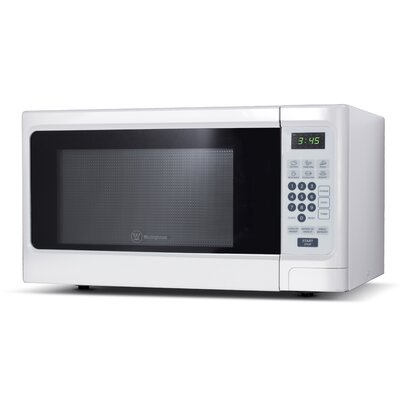 "21"" 1.1 cu.ft. Countertop Microwave Color: White"