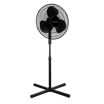 "Desk 16"" Pedestal Fan Color: Black"
