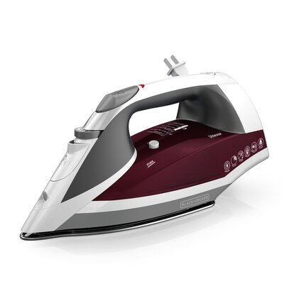 Vitessa Advanced Steam 1200W Iron with Retractable Cord Color: Red