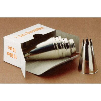 Gilberts Acea and Stratos 10 Piece Star Savoy Piping Tube Set