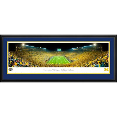 Blakeway Worldwide Panoramas, Inc NCAA University of Michigan Deluxe Framed Photographic Print