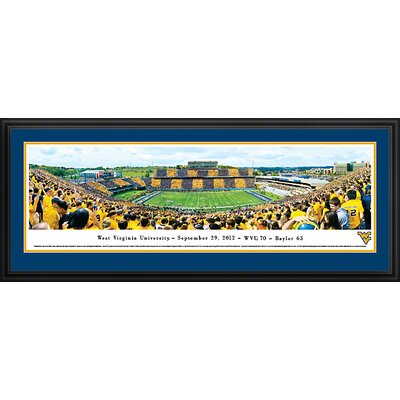 Blakeway Worldwide Panoramas, Inc NCAA West Virginia University - Stripe by Christopher Gjevre Framed Photographic Print