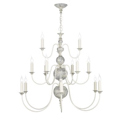 David Hunt Lighting Flemish 15 Light Candle Chandelier