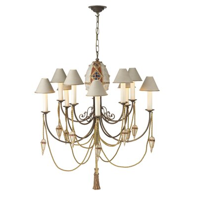 David Hunt Lighting Anastasia 10 Light Candle Chandelier