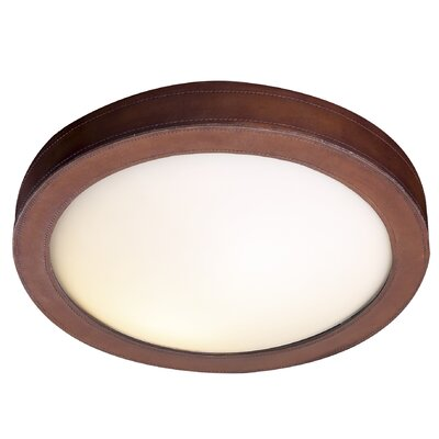 David Hunt Lighting Saddler 2 Light Flush Ceiling Light