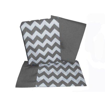 Chevron 3 Piece Crib and Toddler Sheet Set Color: Gray