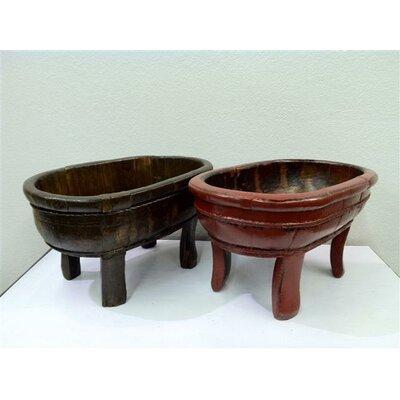 Antique Revival Vintage Oval Four Legged Basin Decorative Bowl