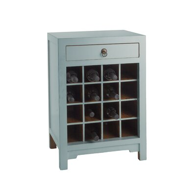 16 Bottle Floor Wine Cabinet Color: Aqua