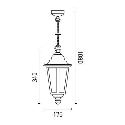 Faro Viena 1 Light Mini Pendant
