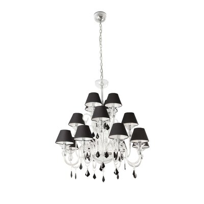 Faro Murano 16 Light Candle Chandelier
