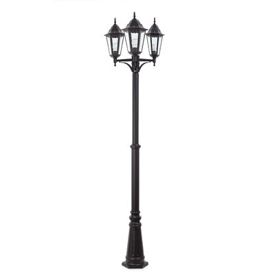 Faro Paris 8 Pole 3 Light 235cm Outdoor Post Lantern Set