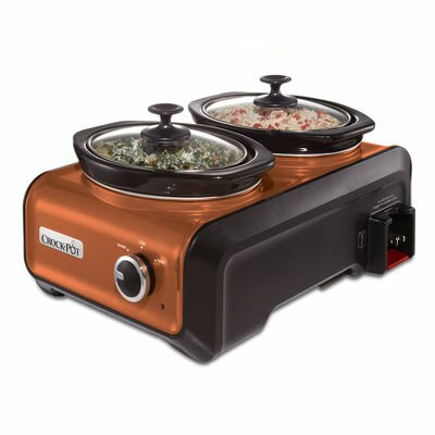 Hook Up Two 1-Quart Connectable Entertaining System Color: Metallic Copper