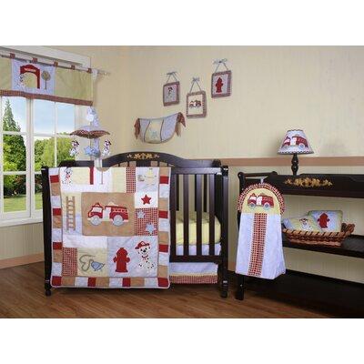Geenny Boutique Fire Truck 13 Piece Crib Bedding Set
