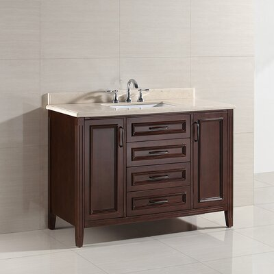 "Daniel 48"" Single Bathroom Vanity Set Base Finish: Cocoa"