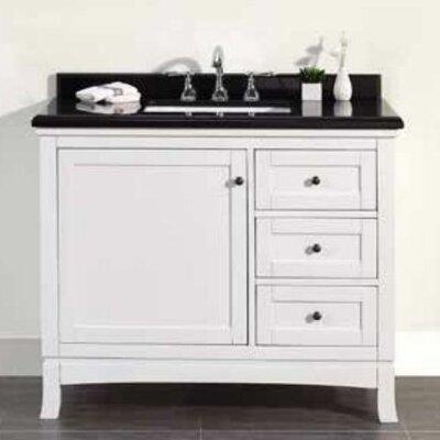 """Sophia 42"""" Single Granite Top and Rectangular Basin Vanity Set"""