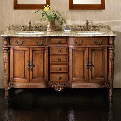 """Karen 60"""" Double Bathroom Vanity Set"""