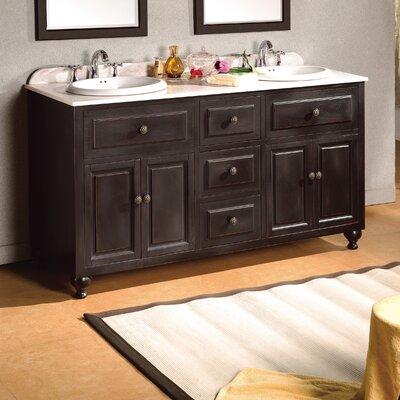 "Kensington 60"" Double Bathroom Vanity Set"