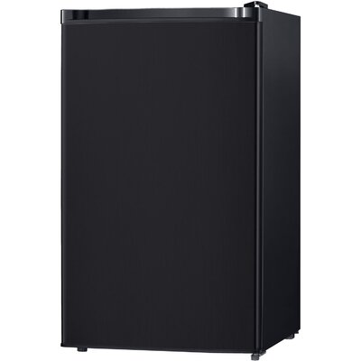 4.4 cu. ft. Compact Refrigerator with Freezer Color: Black