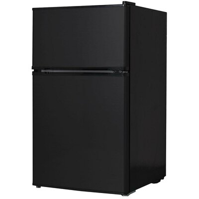 20-inch 3.1 cu. ft. Undercounter Compact Refrigerator with Freezer Color: Black