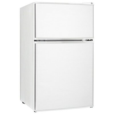 20-inch 3.1 cu. ft. Undercounter Compact Refrigerator with Freezer Color: White