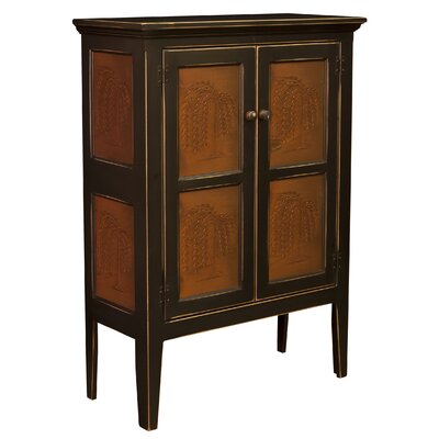 Jeremiahs Pie Safe Storage 2 Door Accent Cabinet Color: Black