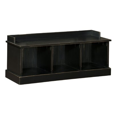 Springboro Wood Storage Bench