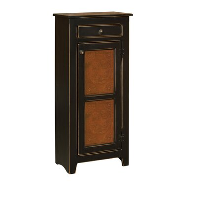 Ranchester 1 Drawer Rectangular Accent Cabinet Color: Black