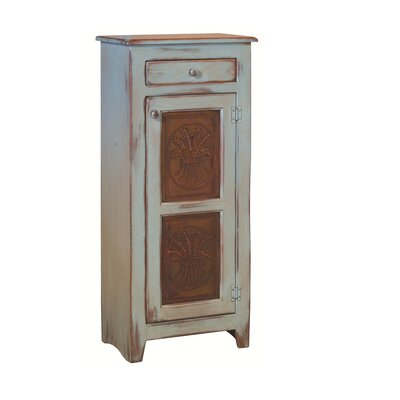 Ranchester 1 Drawer Rectangular Accent Cabinet Color: Seafoam Wheat