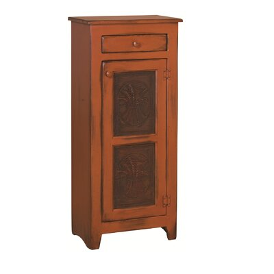 Ranchester 1 Drawer Rectangular Accent Cabinet Color: Burnt Orange