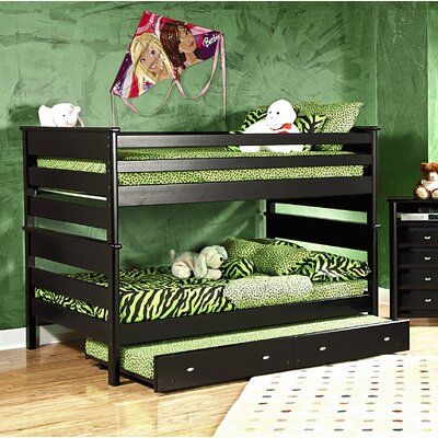 Allerone Full Over Full Bunk Bed with Trundle